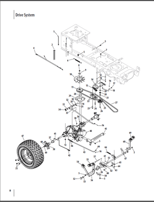 Cub Cadet Ltx 1050 Drive Belt Diagram