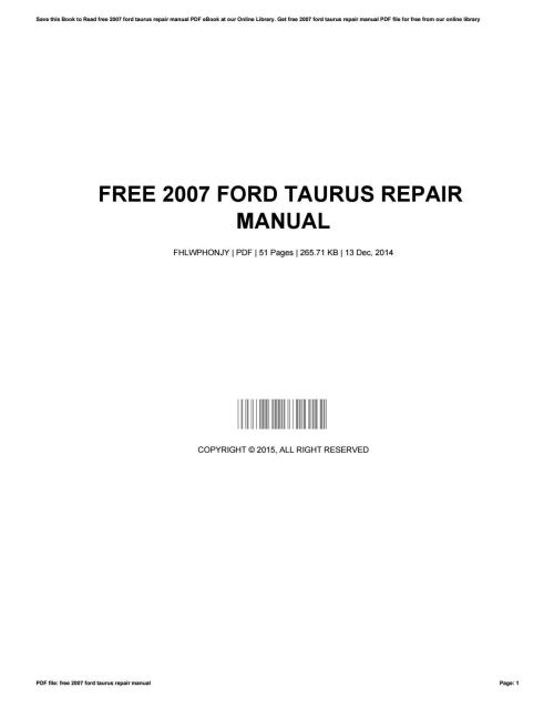 small resolution of ford tauru ignition wiring diagram