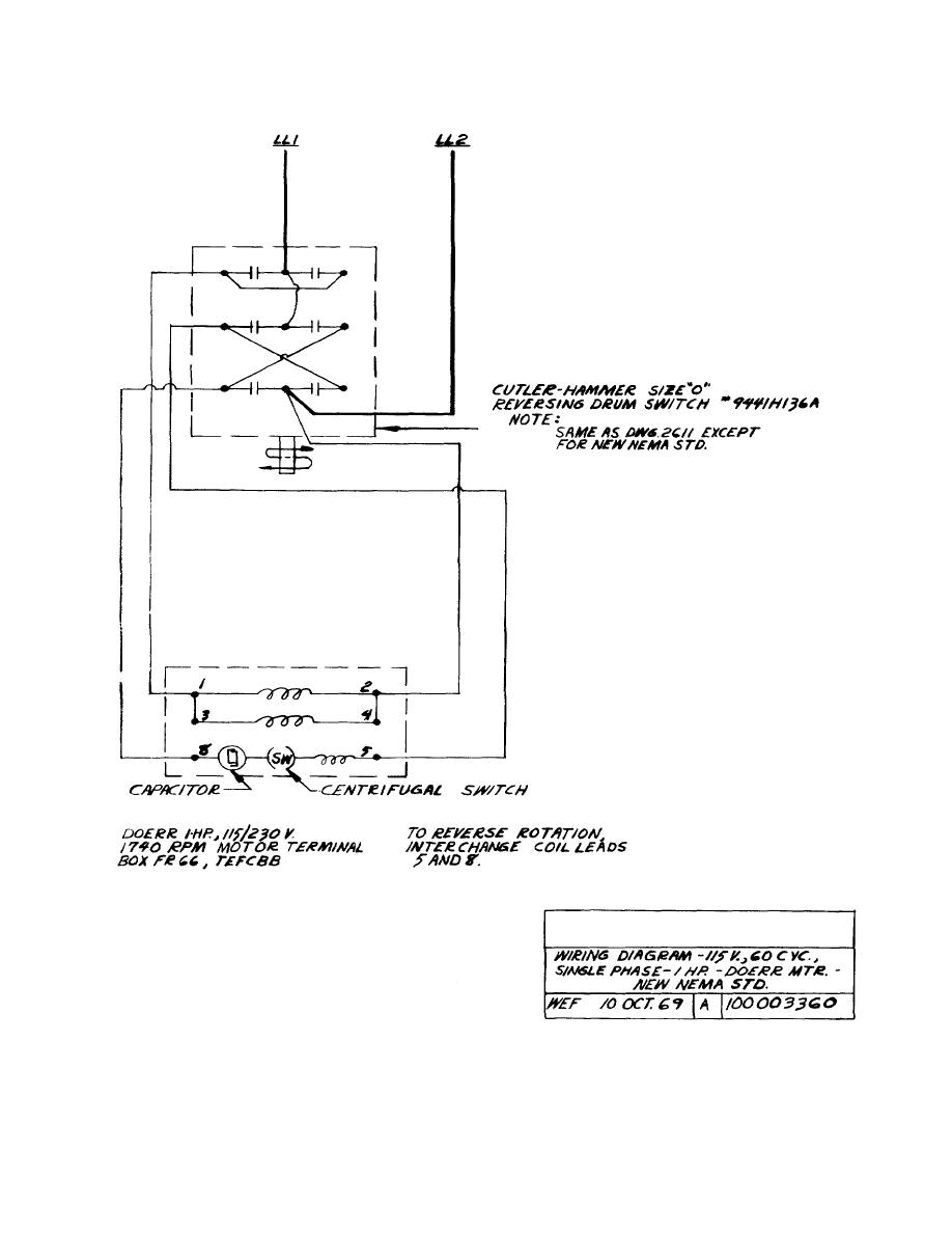 hight resolution of dayton 3 4 hp 115v electric motors wiring diagram on cutler hammer lights cutler cutler hammer reversing switch