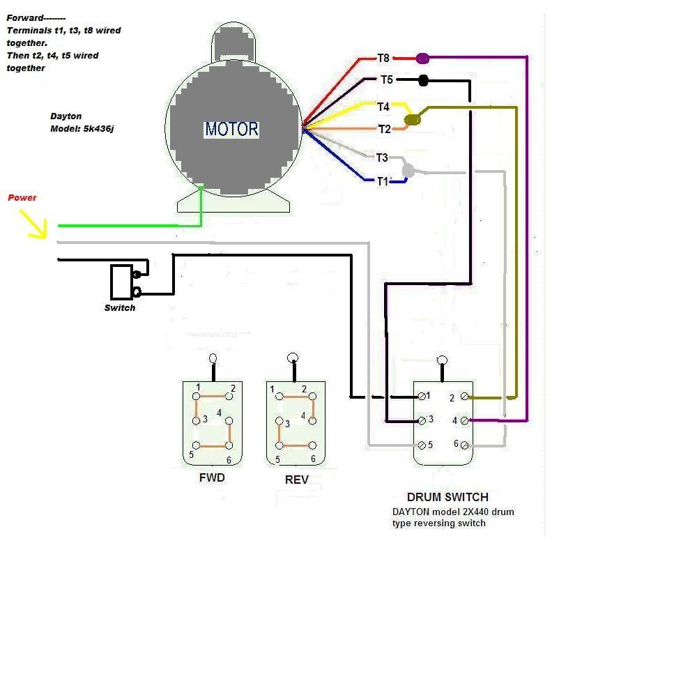 Dayton 3e438a Wiring Diagram