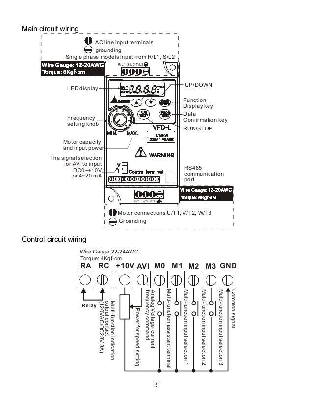 Delta Vfd El Wiring Diagram