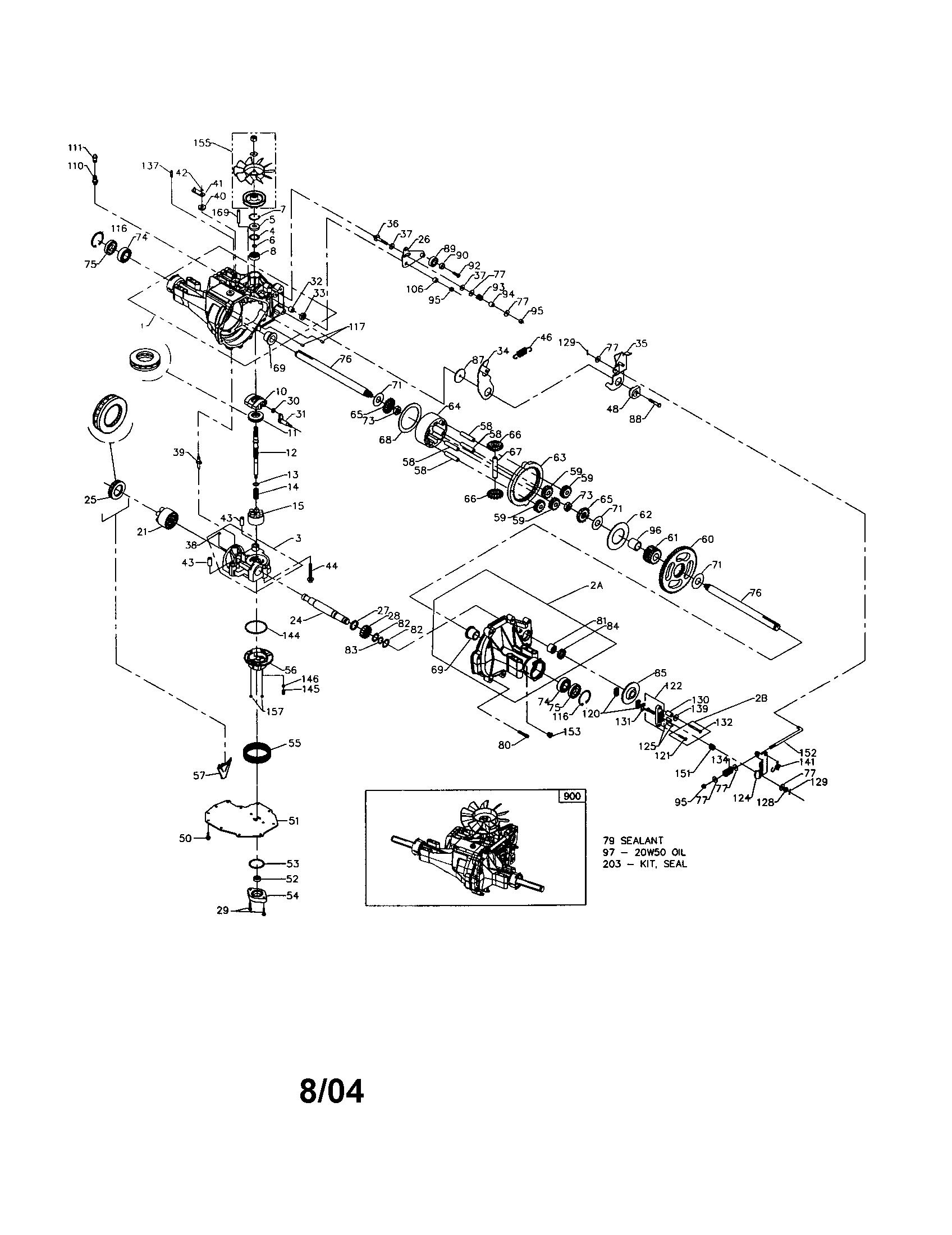 Detailed Wiring Diagram 917.288070 Lawn Mower