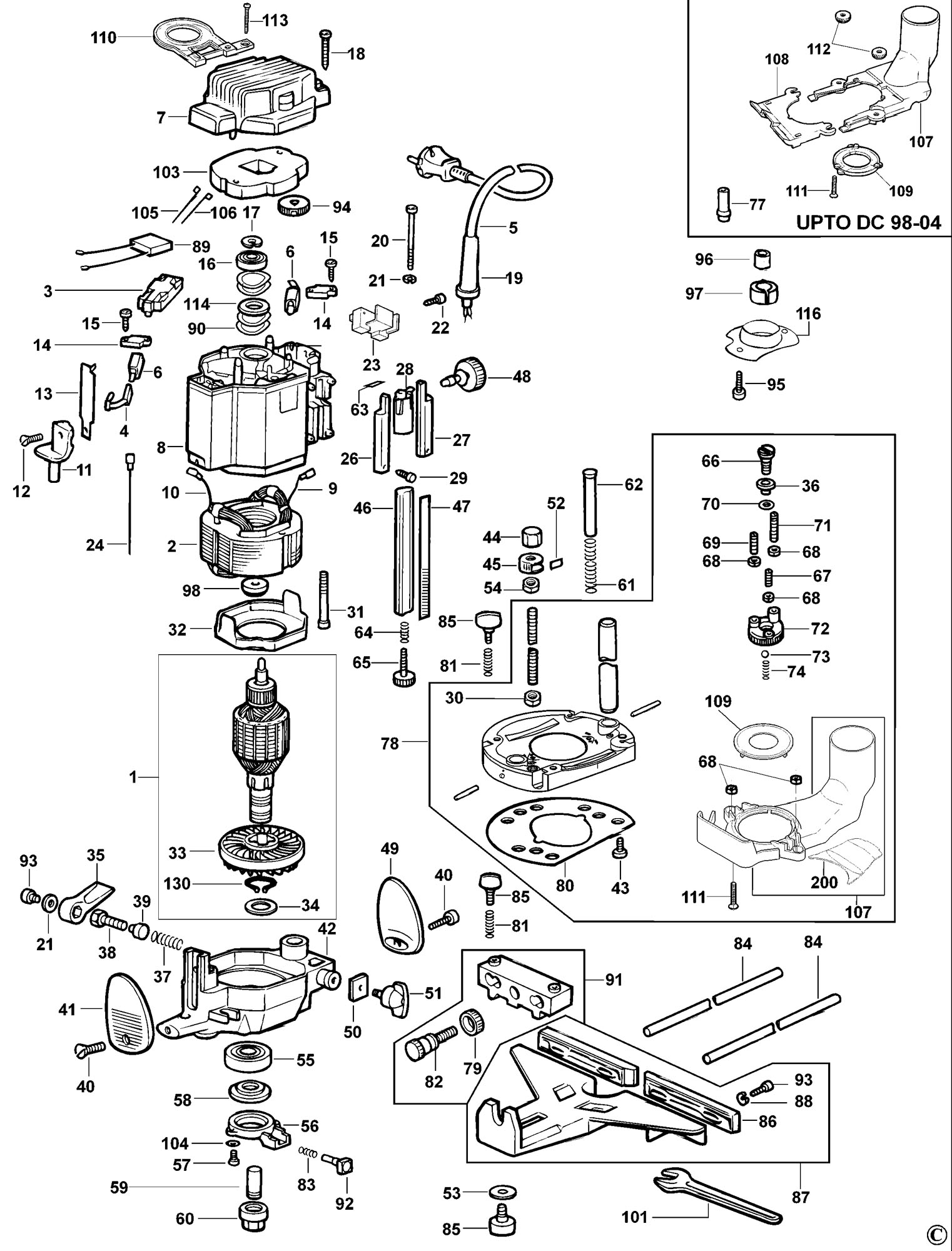 Dewalt D55146 Power Cord Wiring Diagram