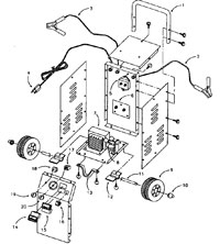 Diehard Battery Charger Model 28.71230 Wiring Diagram