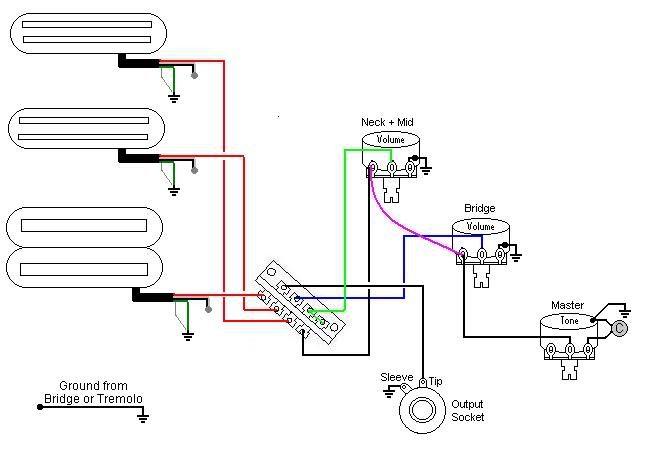 dimarzio area wiring diagram