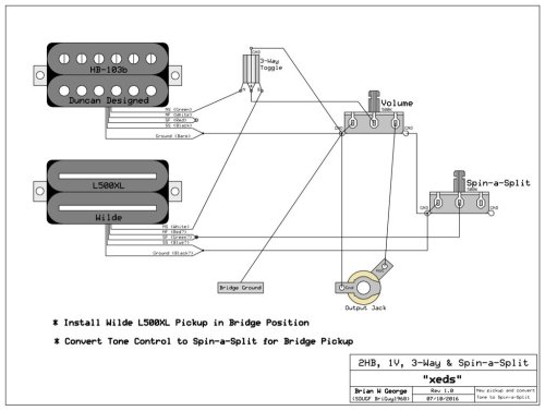 small resolution of dimarzio two humbuckers with 3 way center coil split selector switch wiring diagram 2rokzeu