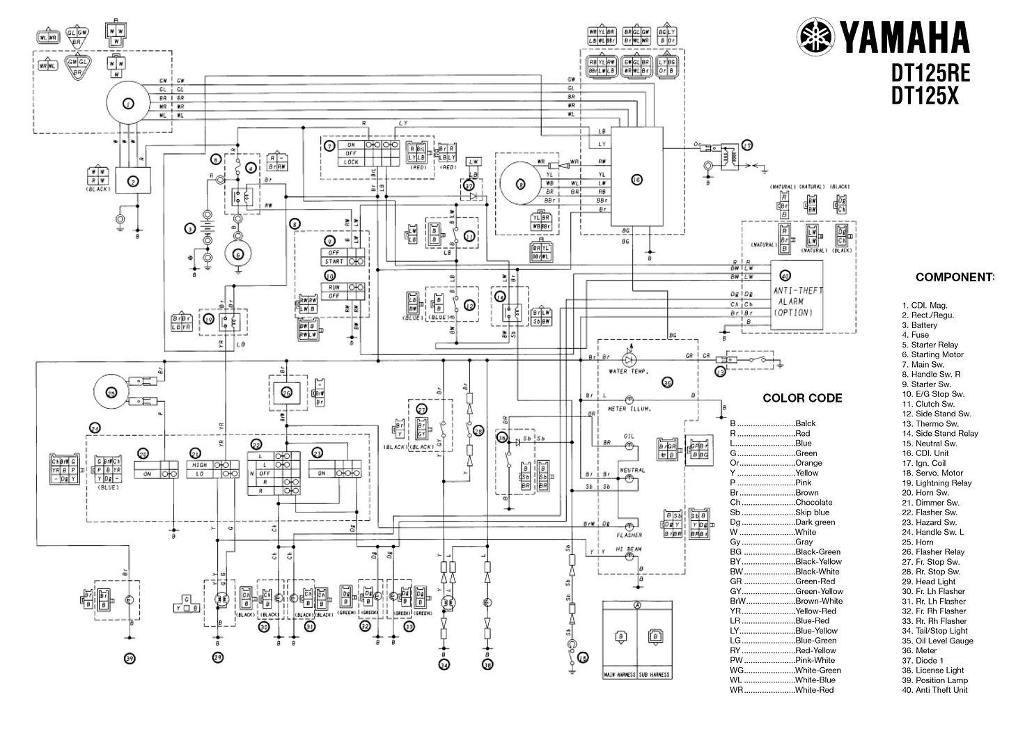 Dt125r Wiring Diagram