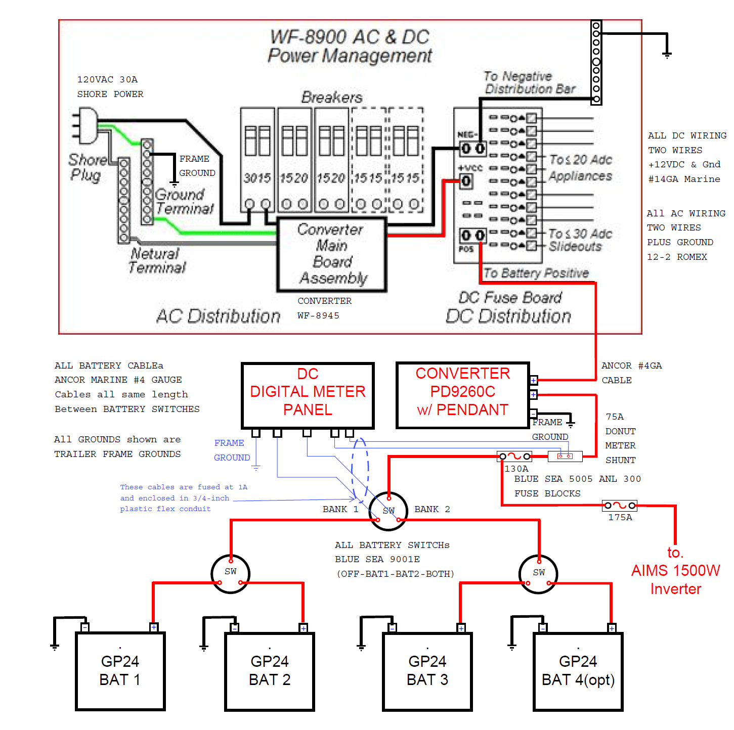 rv dual battery wiring diagram electric guitar for a 2005 fleetwood prowler regal travel trailer