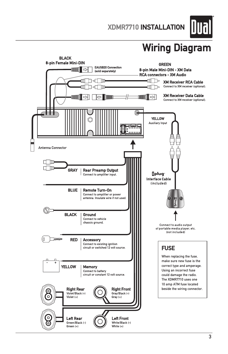 Dual Xdm16bt Wiring Harness Diagram