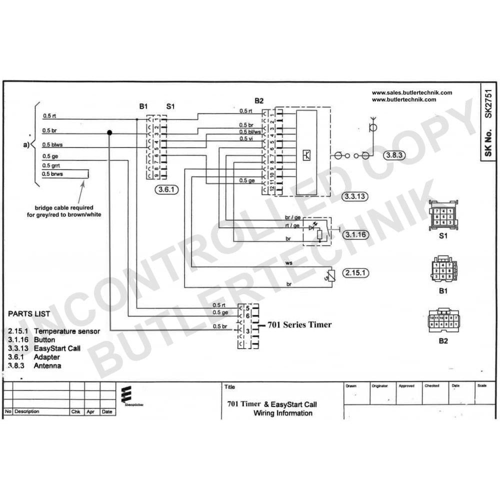 Eberspacher Airtronic D2 Wiring Diagram