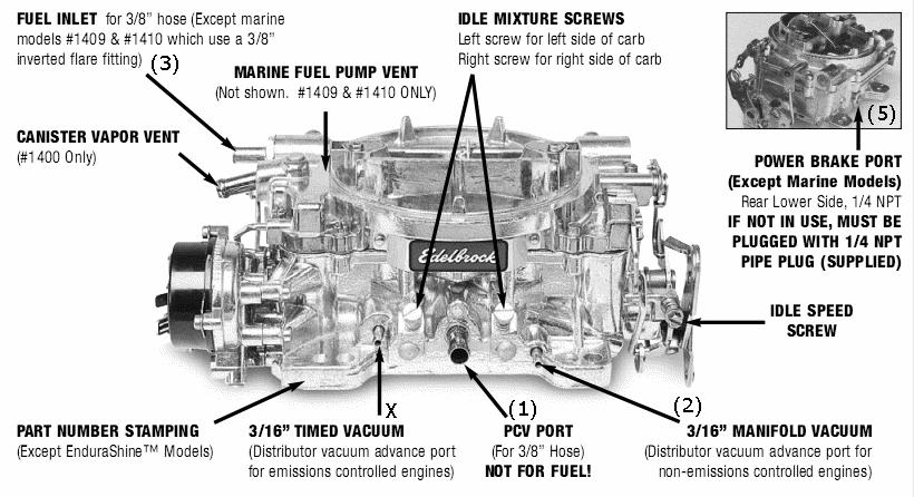 Edelbrock 1405 Diagram