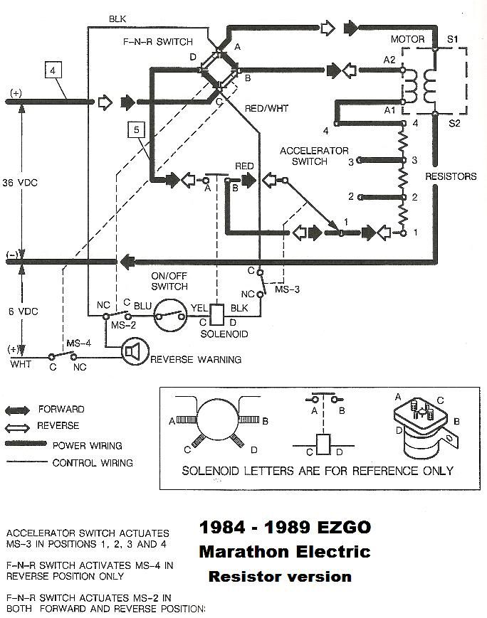 Electric Ezgo Golf Cart 1989 Marathon Wiring Diagram Pdf