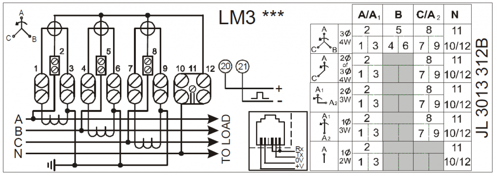 Elster A1140 Wiring Diagram