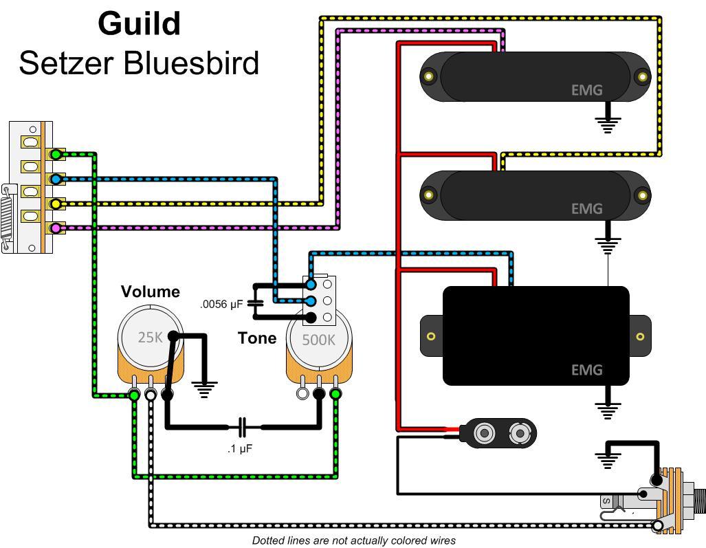 hight resolution of emg active bas pickup wiring diagram