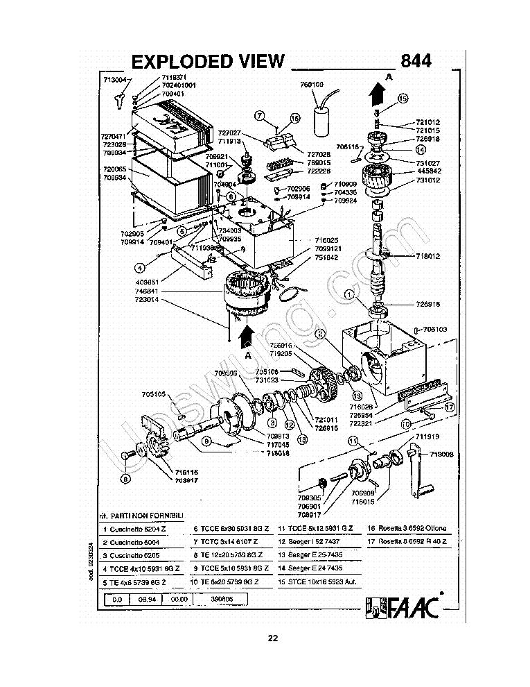 Faac 770 Wiring Diagram