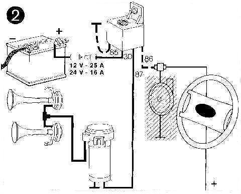 Fiamm Air Horn Wiring Diagram