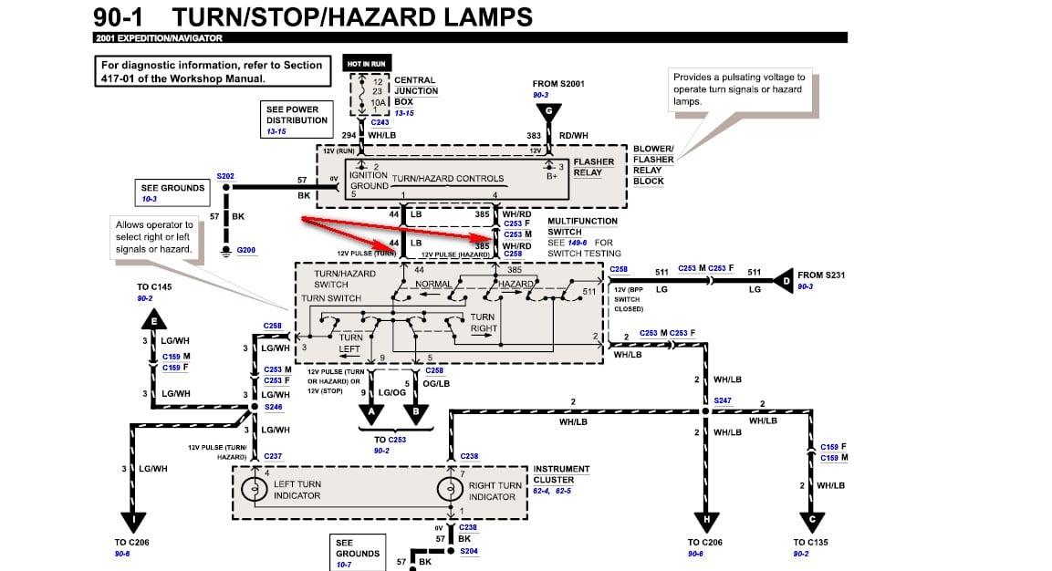 Ford F650 Truck 2000 Turn Signal Wiring Diagram