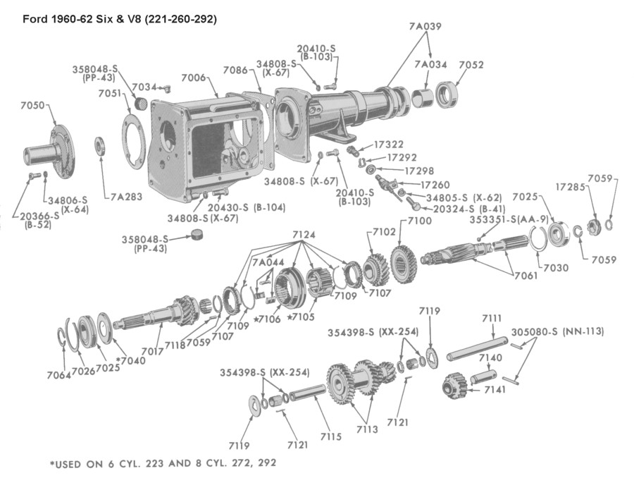 Ford Toploader Shifter Diagram