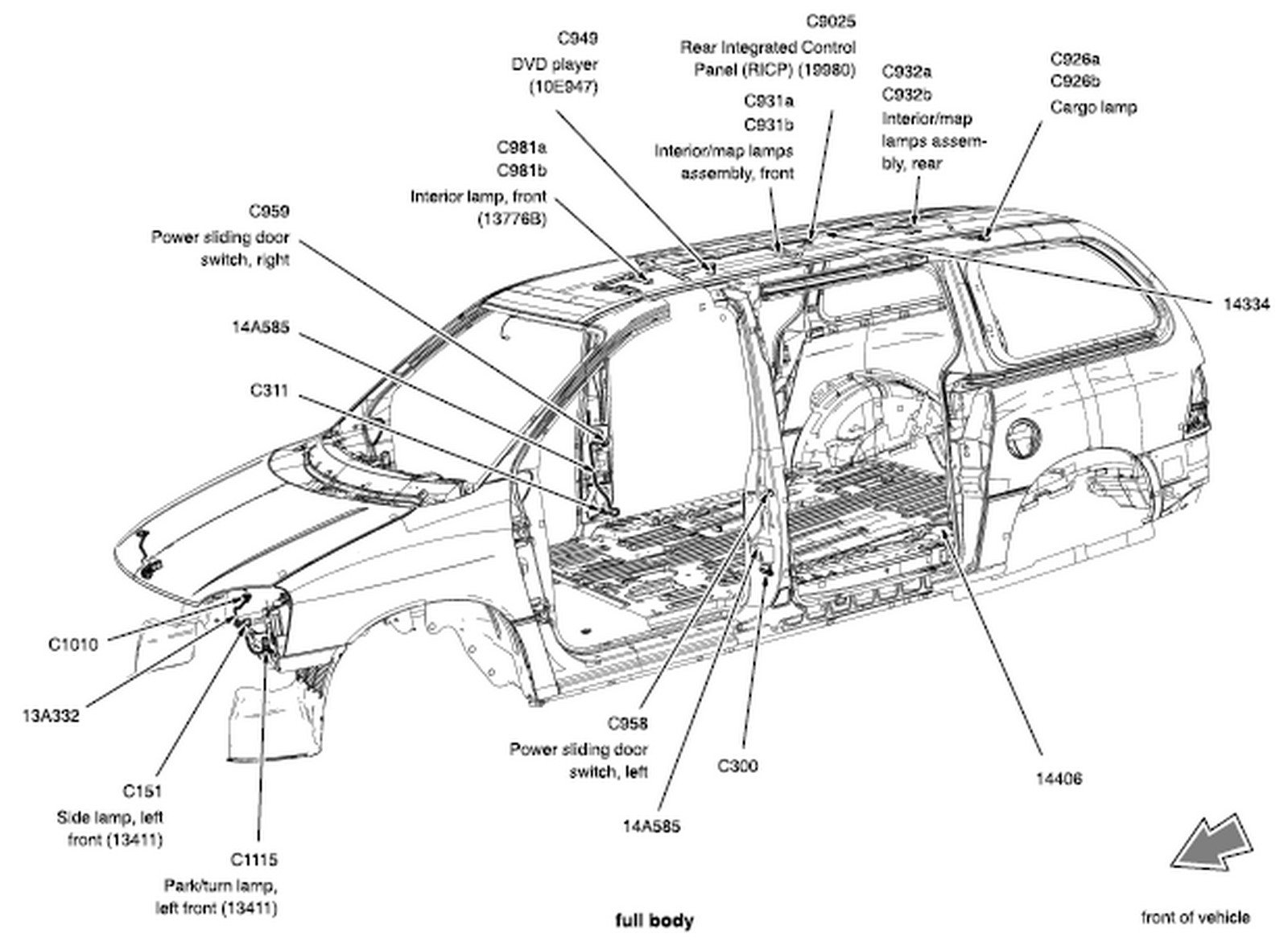 Ford Windstar & Freestar 1995 Thru 2007 Wiring Diagram