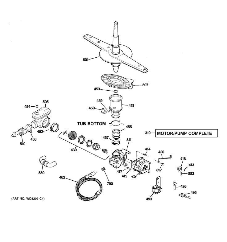 Ge Triton Dishwasher Parts Diagram