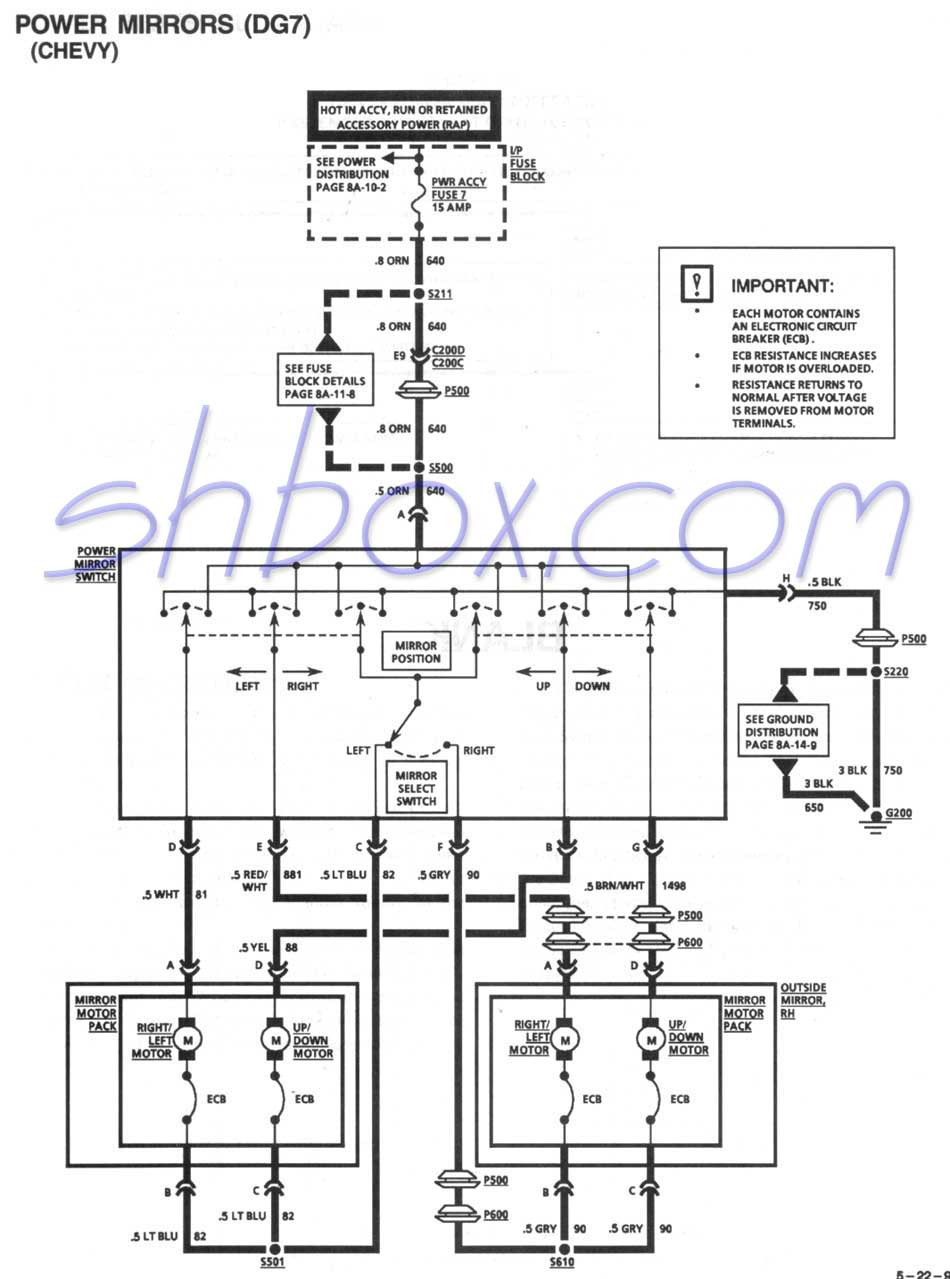 Gm 03-06 Power Mirror Wiring Harness Wiring Diagram