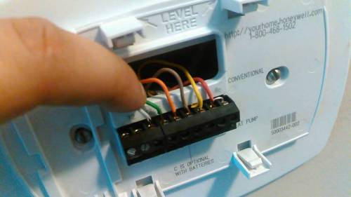 small resolution of goodman heat pump thermostat wiring diagram to honeywell 5000 8 wire thermostat