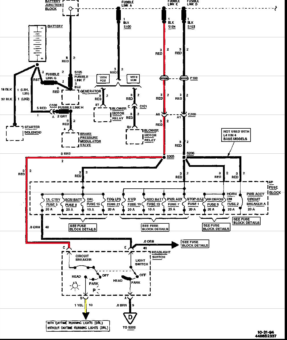 Headlight Wiring Diagram For 2005mustanf