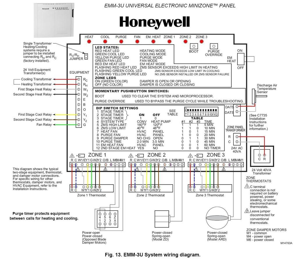 Honeywell Hz311 Wiring Diagram