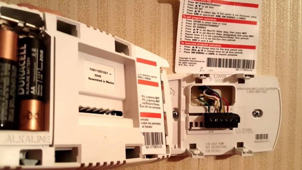 medium resolution of honeywell thermostat rth6500wf wiring diagram