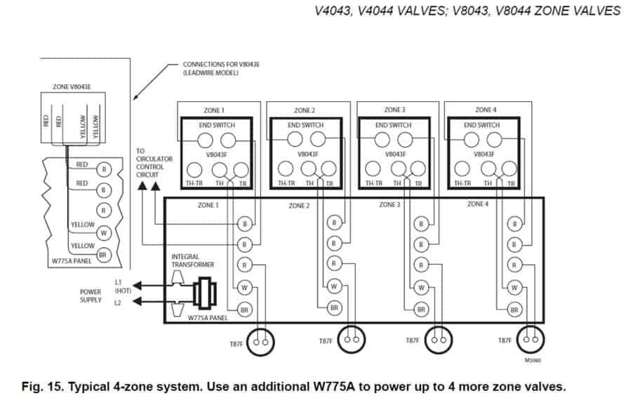 Honeywell St9120c Wiring Diagram