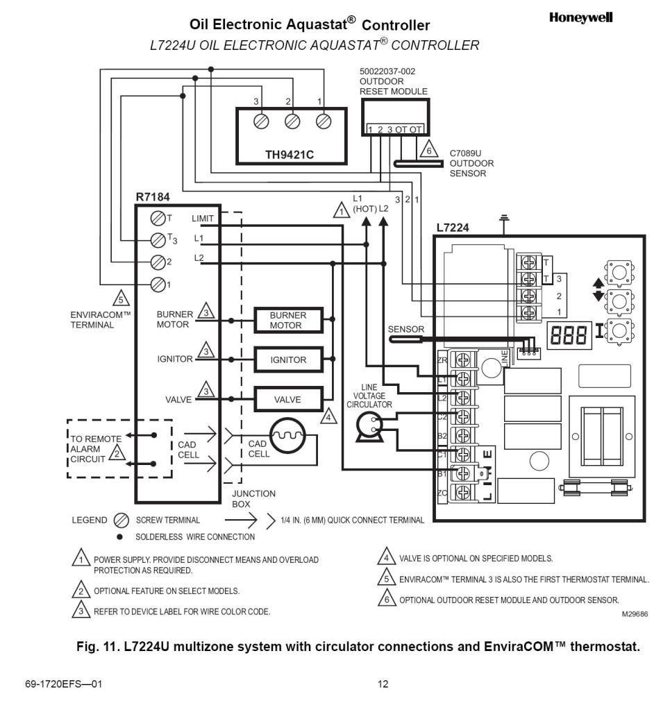 Honeywell Thermostat Wiring Diagram Rth221b