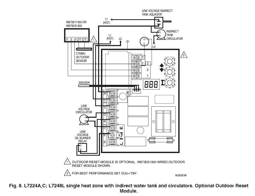 Honeywell W7212a1025 Wiring Diagram