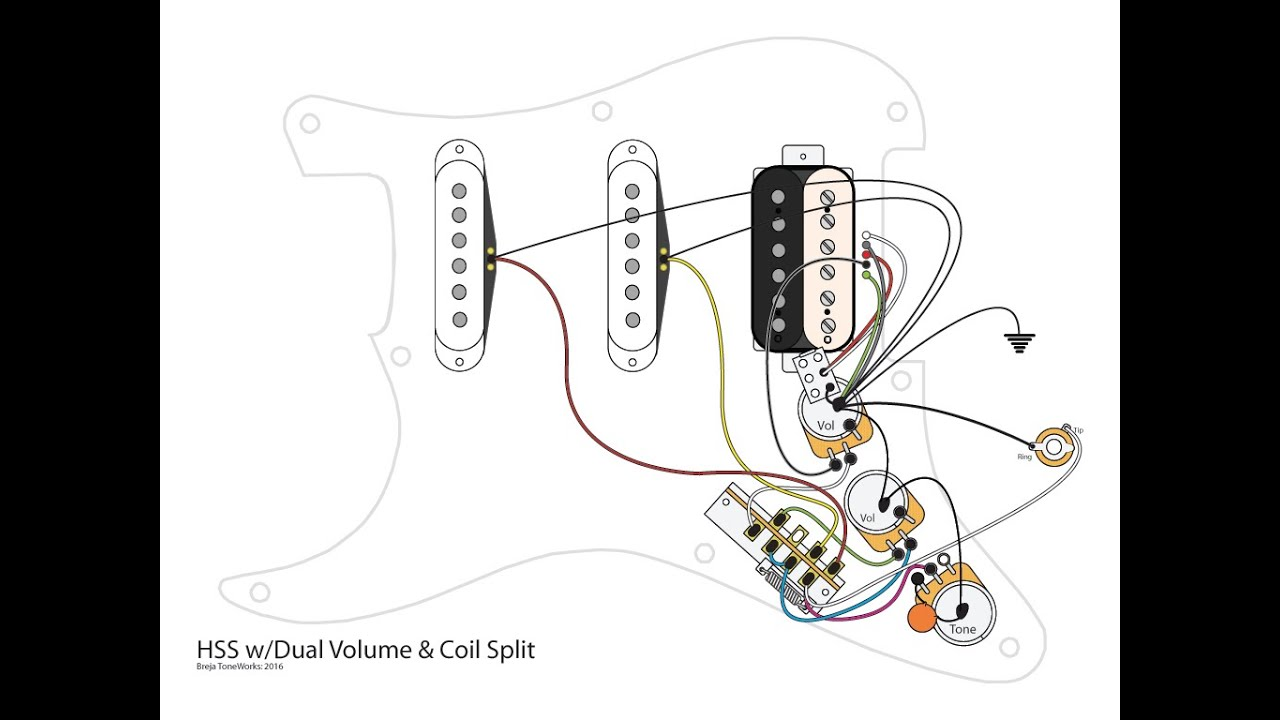 Hss Wiring Diagram Coil Split 1 Volume 2 Tones