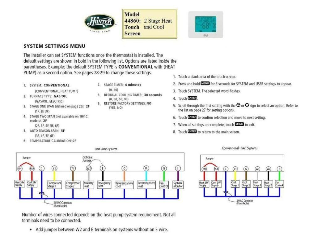 medium resolution of hunter 2wire thermostat wiring diagram online wiring diagram hunter 40170 thermostat wiring diagram fan
