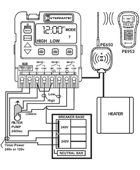 Intermatic Timer Wiring Diagram T101