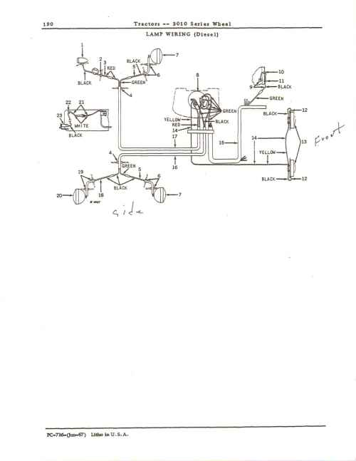small resolution of john deere 3020 wiring diagram