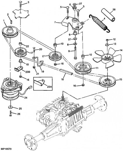 John Deere La105 Deck Belt Diagram