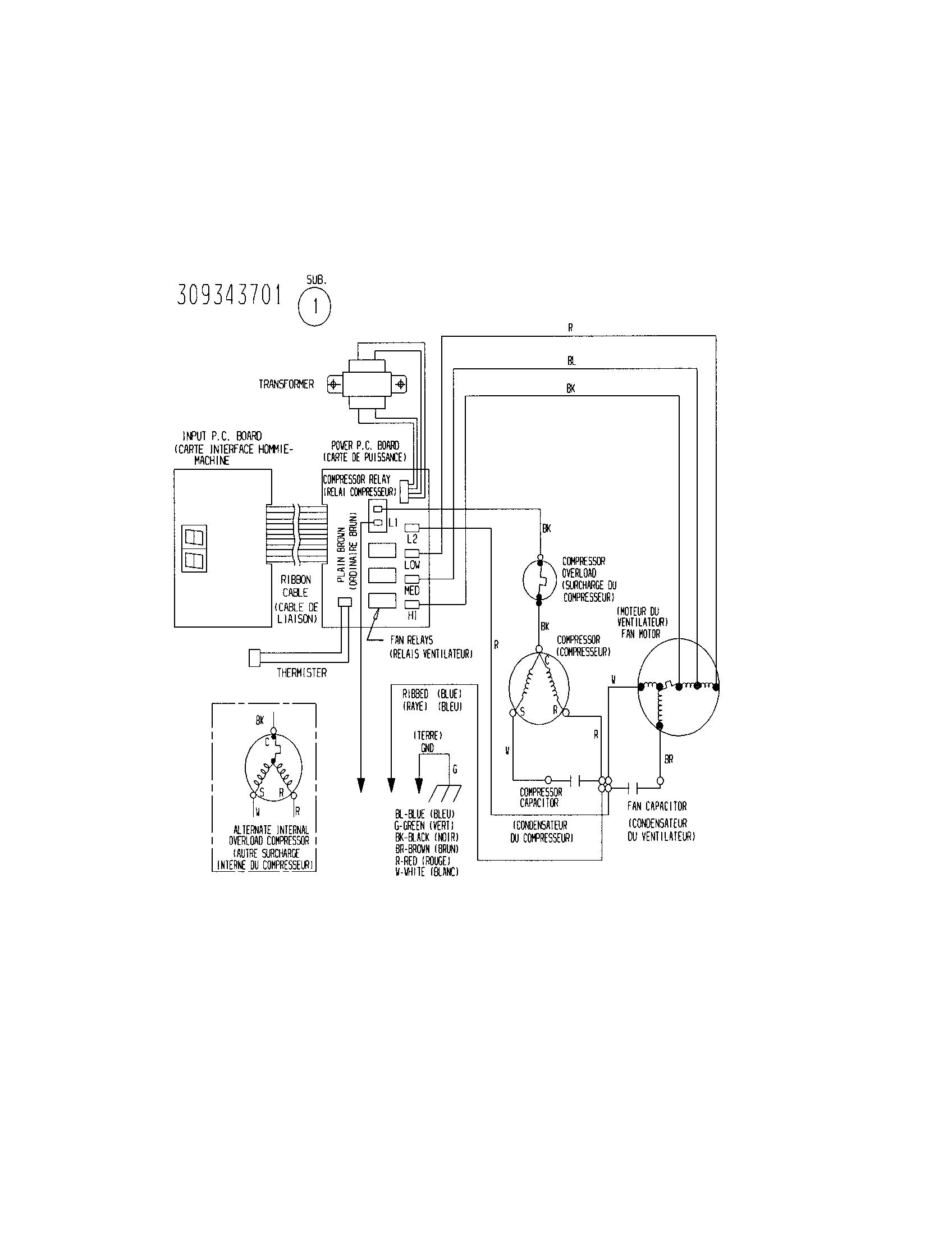 Kenmore Air Conditioner 8761890 Wiring Diagram