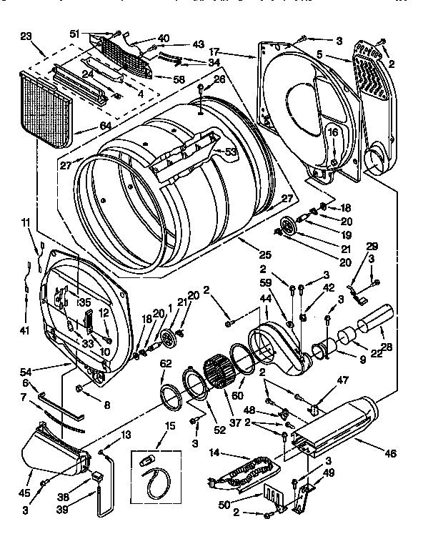 Kenmore Dryer Model 110.62952100 Wiring Diagram