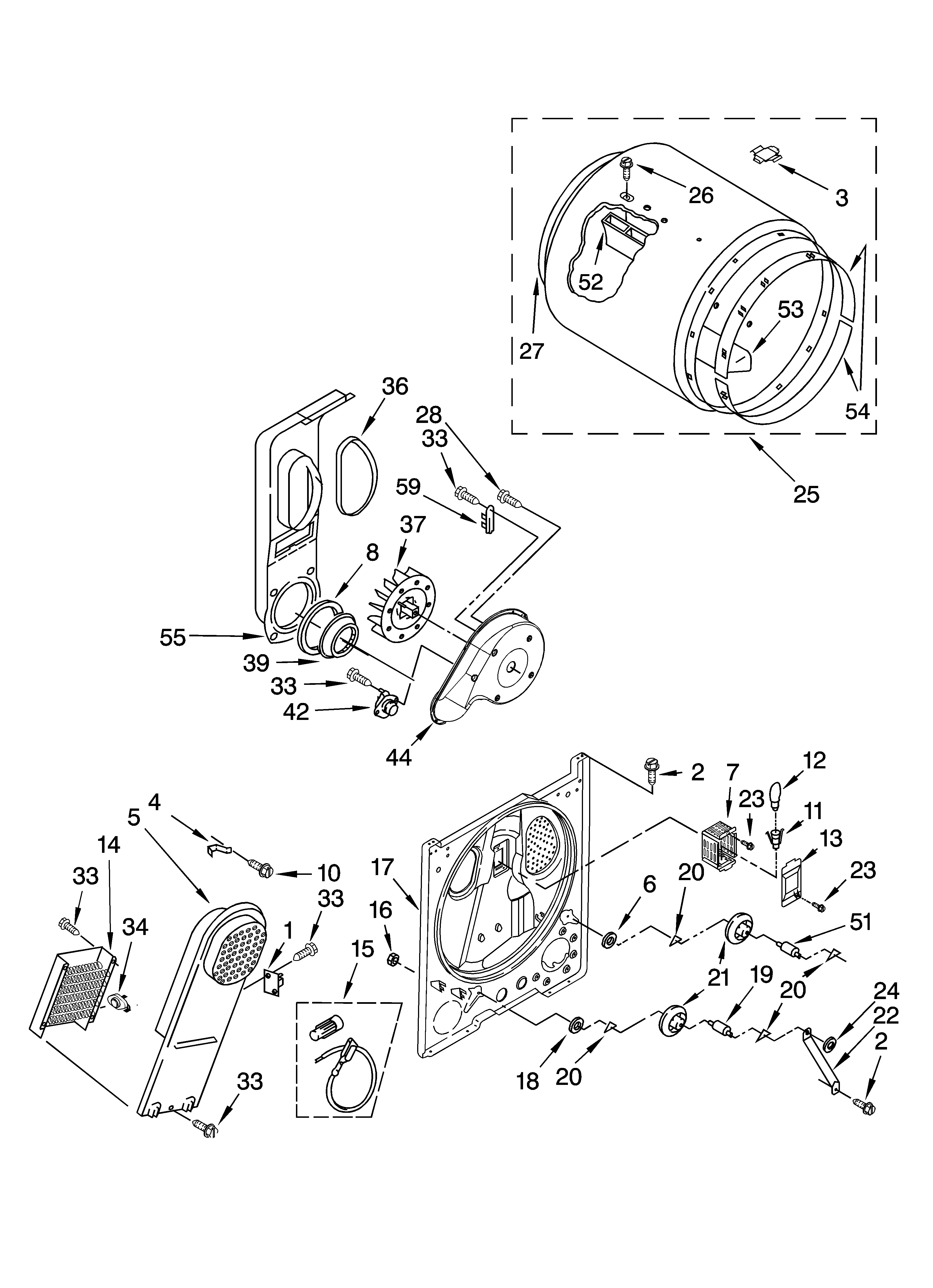 Kenmore Dryer Model 110.62952100 Wiring Diagram