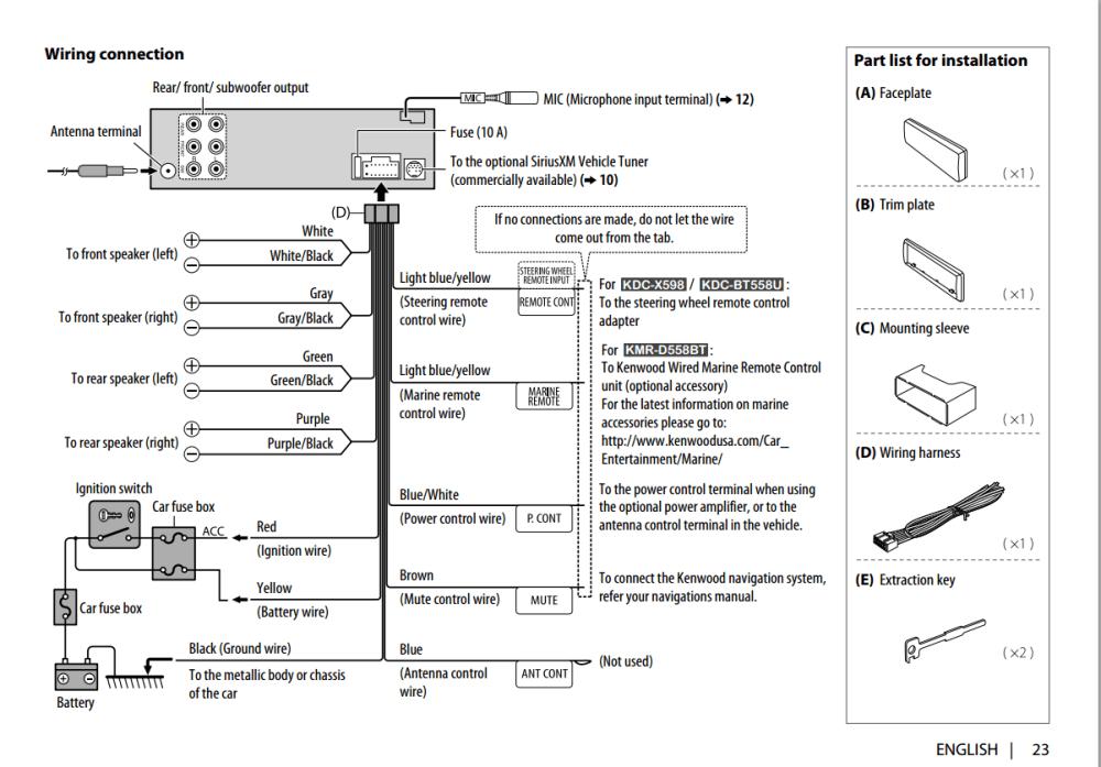medium resolution of wiring diagram for kenwood kdc x492
