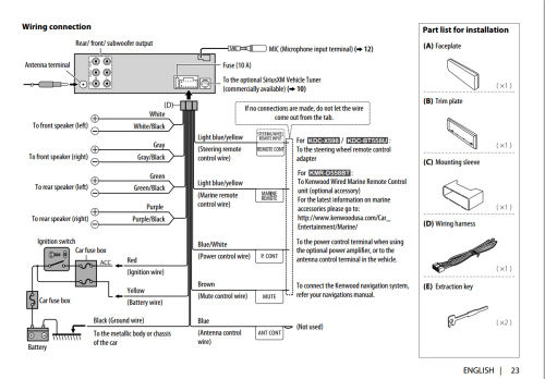 small resolution of wiring diagram for kenwood kdc x492