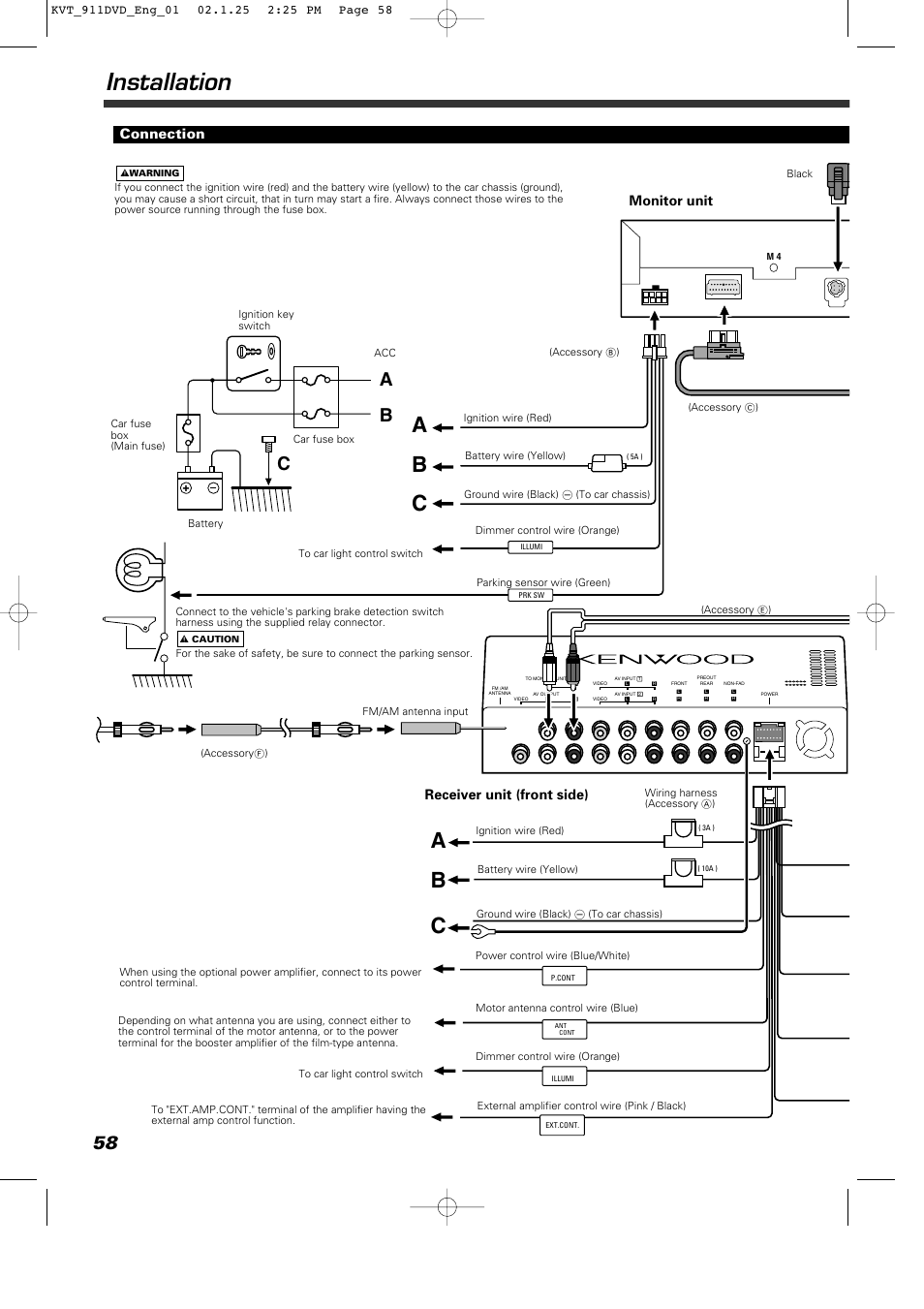 Kenwood Kdc-mp438u Wiring Diagram
