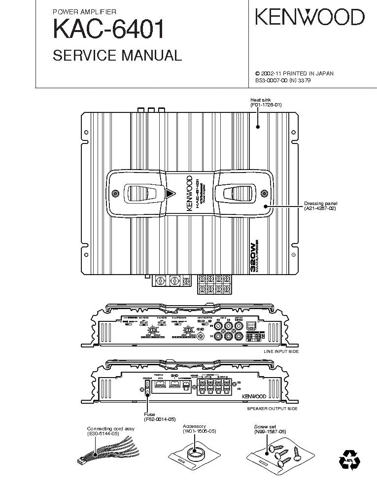 Kenwood Kdc X595 Wiring Diagram
