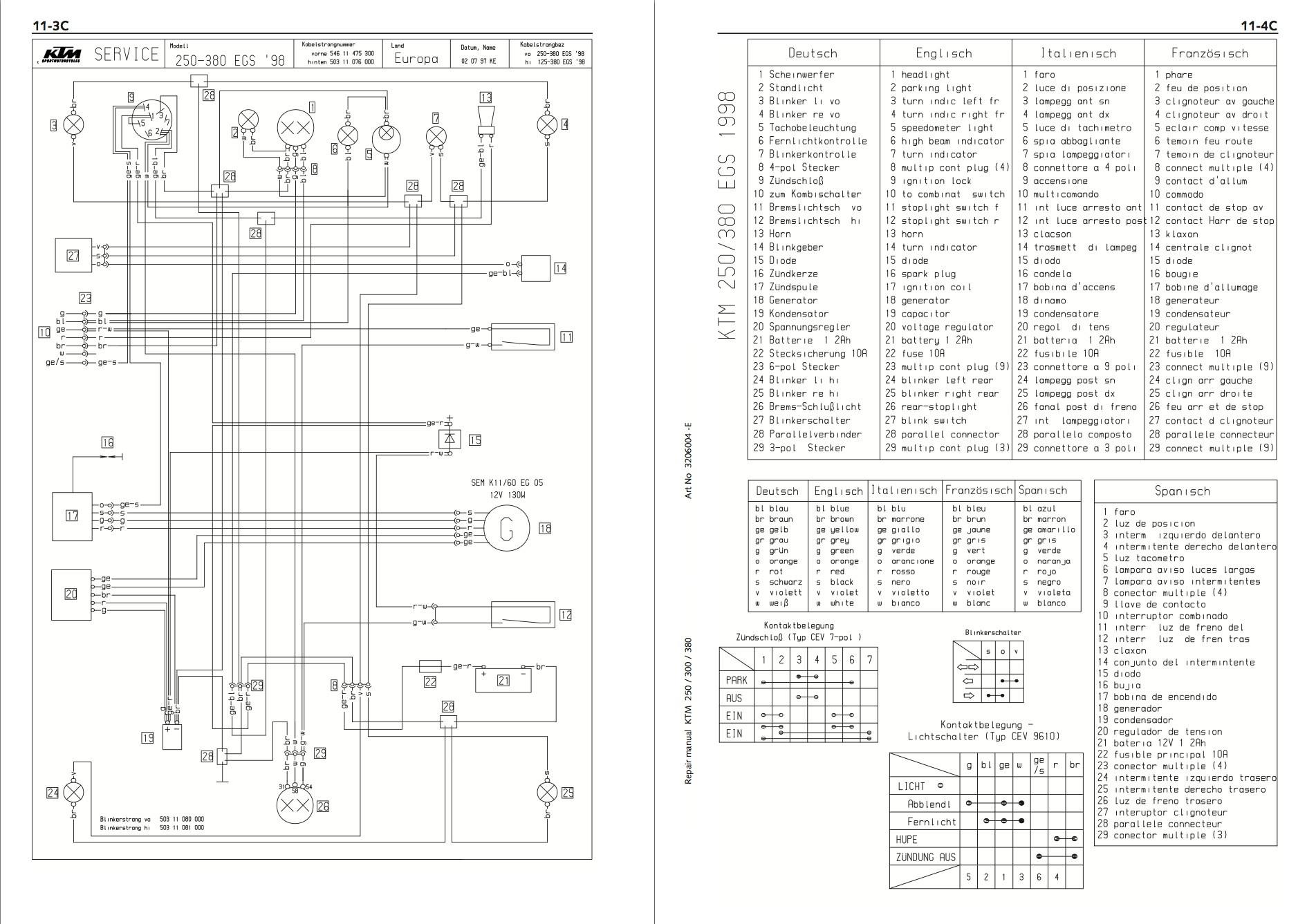 hight resolution of ktm 300 headlight wiring wiring diagramktm 300 headlight wiring