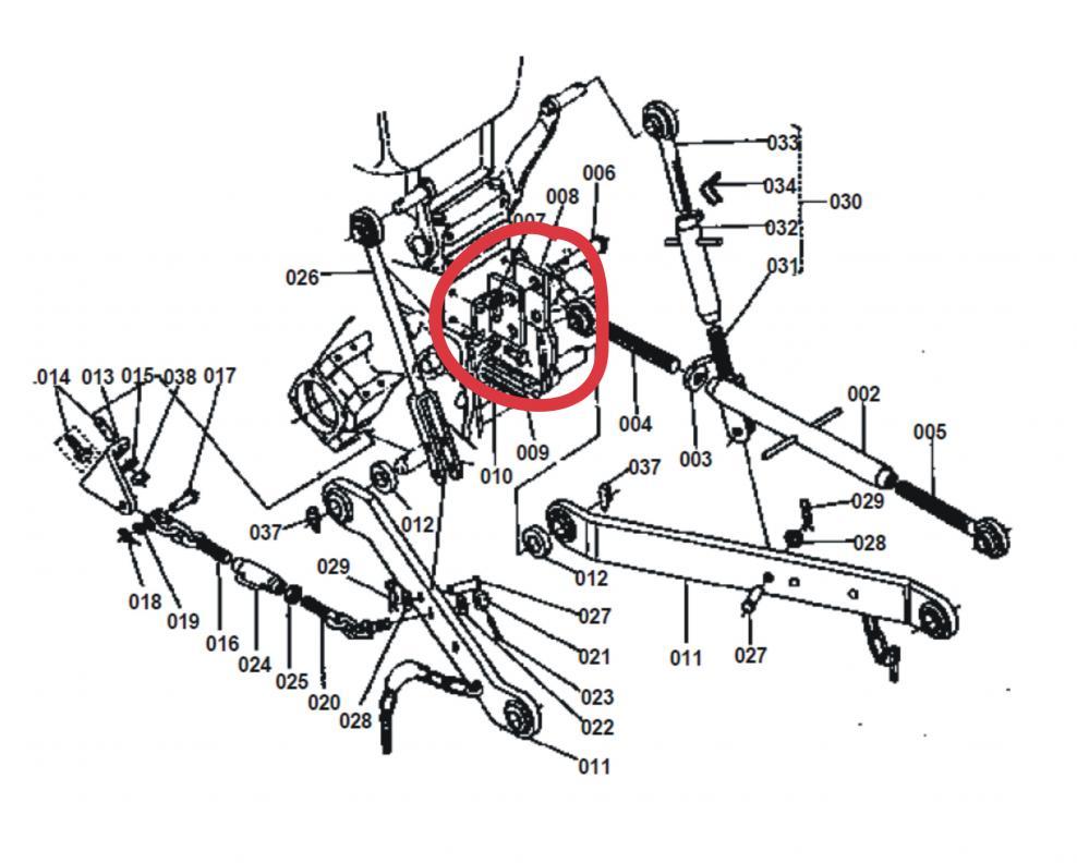 Kubota B6100 Parts Diagram