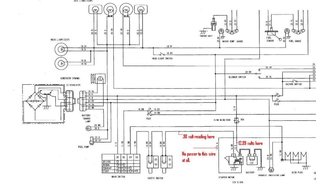 Diagram Typical Starter Relay Wiring Diagram Kubota Wiring