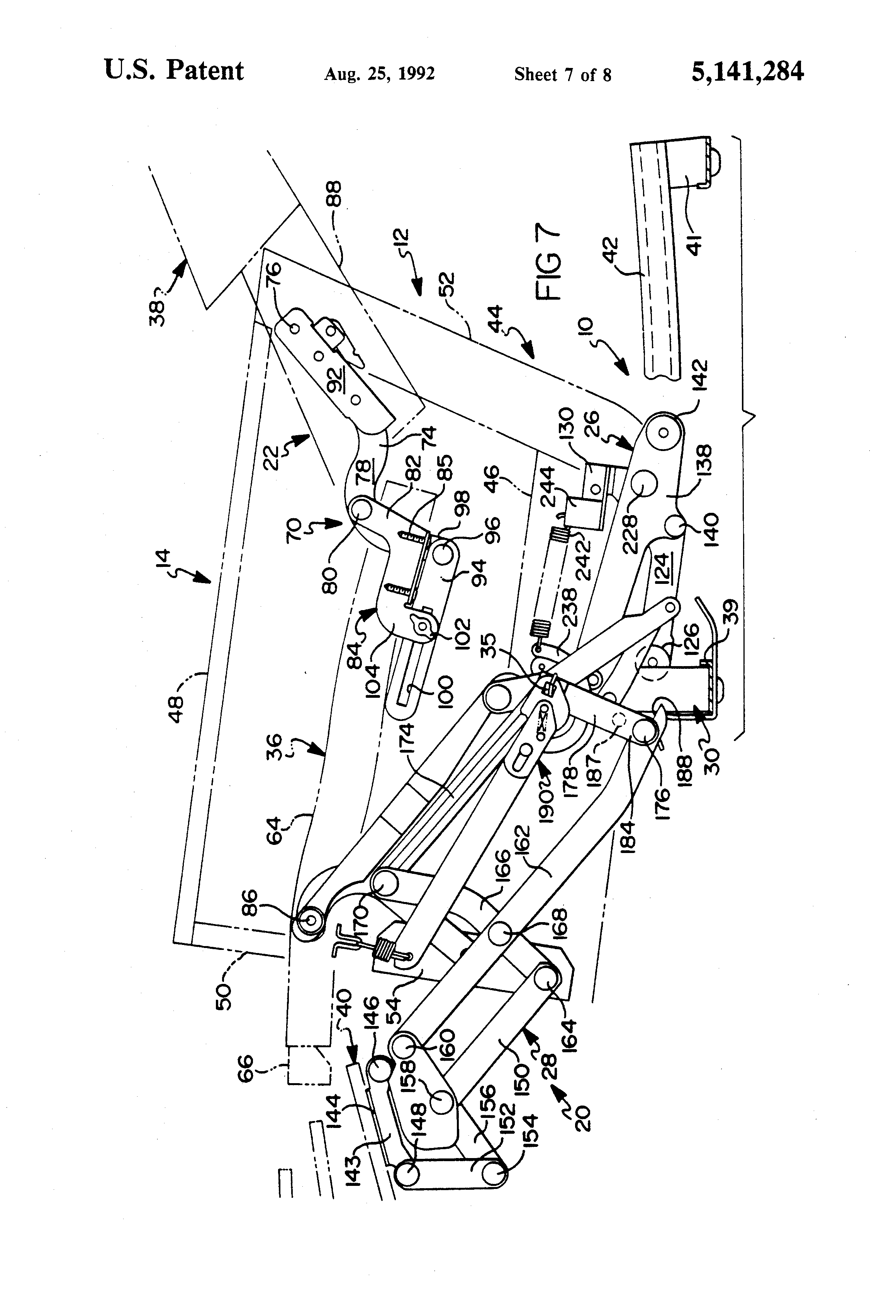 Lane Rocker Recliner Mechanism Diagram