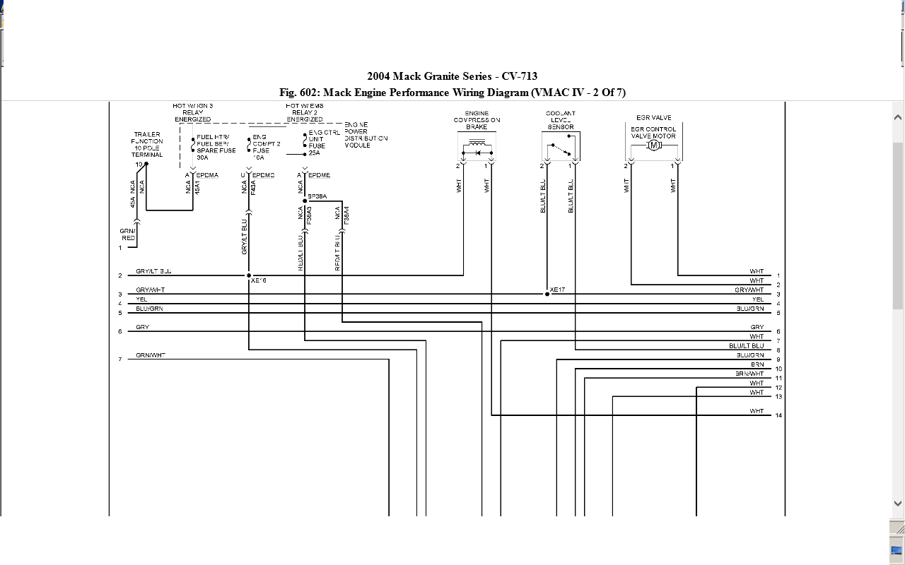 Mack Ch600 Speed Wiring Diagram