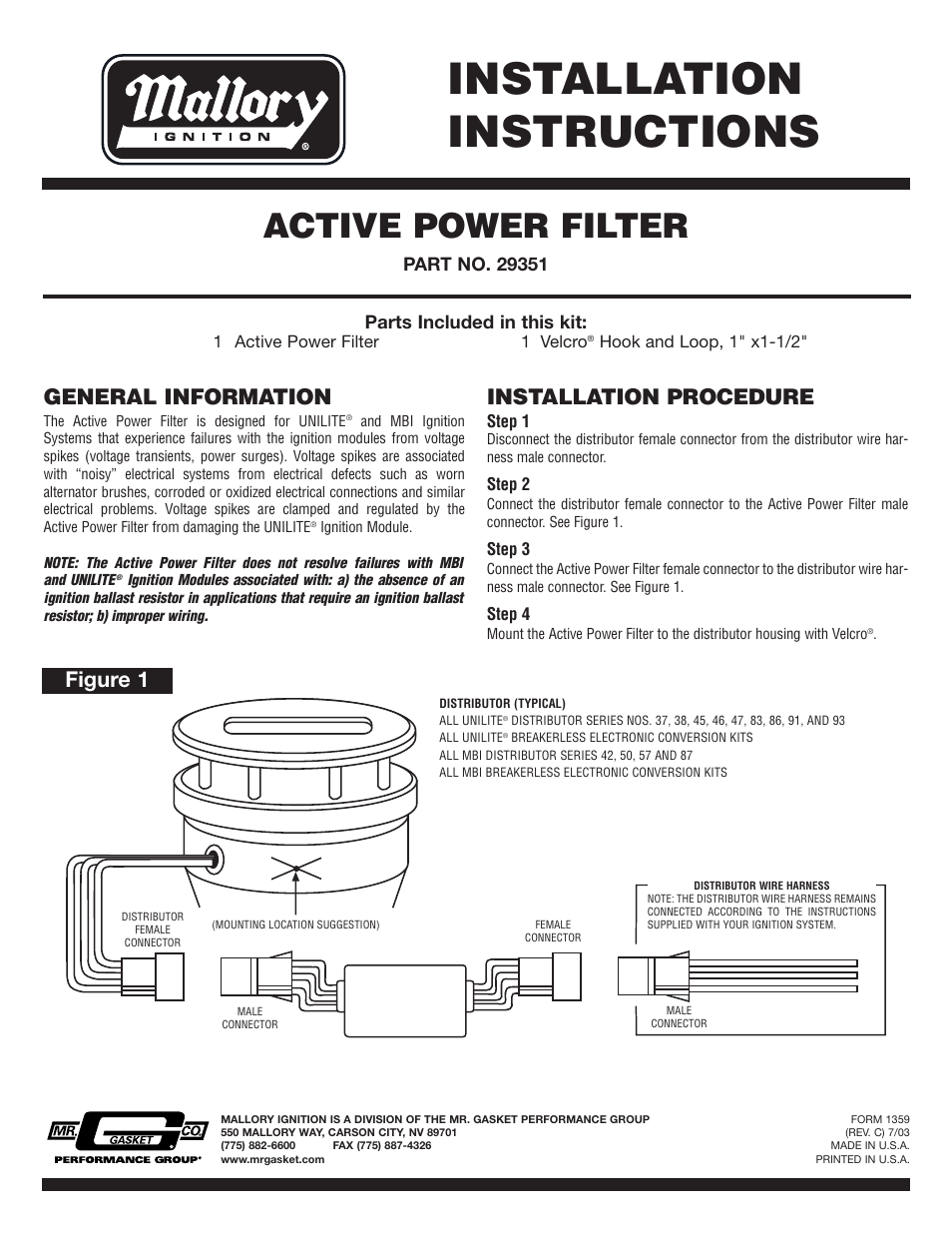medium resolution of mallory unilite ignition box wiring diagram